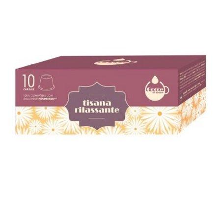 Gocce di Caffè - 10 Capsule Tisana Rilassante Compatibili Nespresso