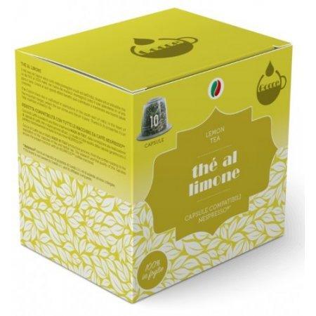 Gocce di Caffè - 10 Capsule Thè al Limone Compatibili Nespresso