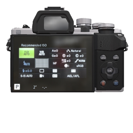 Olympus Sensore Live MOS 4/3'' da 16 Mpx - OM-D EM10 Mark II Silver + 14-42 mm EZ