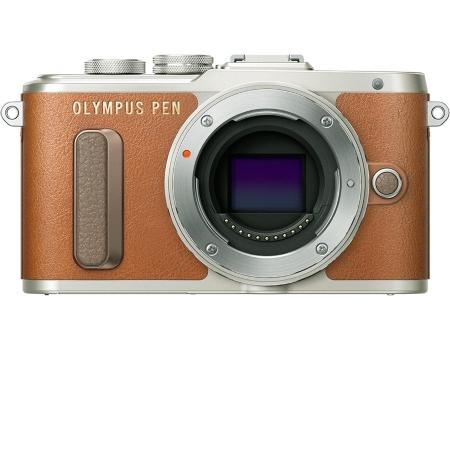"""Olympus Sensore Live MOS 4/3"""" da 16 Mpx - PEN E-PL8 Brown +14-42mm EZ"""