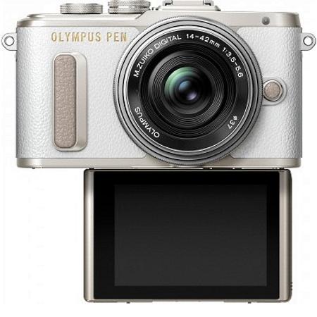 "Olympus Sensore Live MOS 4/3"" da 16 Mpx - PEN E-PL8 White +14-42mm EZ"