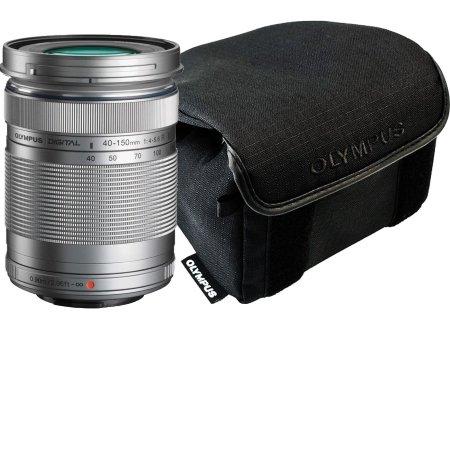Olympus M.Zuiko - Zoom 40-150 mm Silver + Borsa V315030SE020