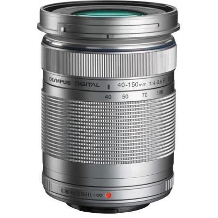 Olympus M.Zuiko Obiettivo Tele-Zoom da 40-150mm, F4.5/5.6 - Zoom 40-150 mm Silver + Borsa V315030SE020