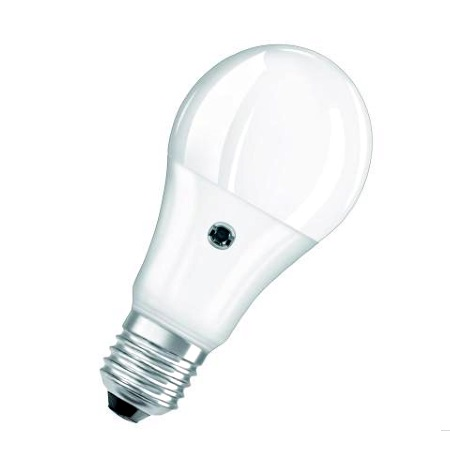 Ledvance Lampadina a LED con sensore crepuscolare 9W - Attacco E27 - Psensca60827sg9