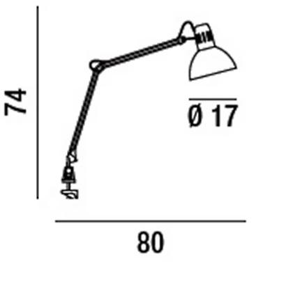 Perenz Lampada da tavolo - Lampada da Tavolo Architetto C/mors. 60w Alluminio