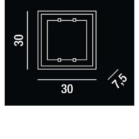 Perenz Plafoniera - Plafoniera 30x30 40w