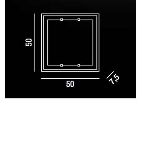 Perenz Plafoniera - Plafoniera 50x50 40w