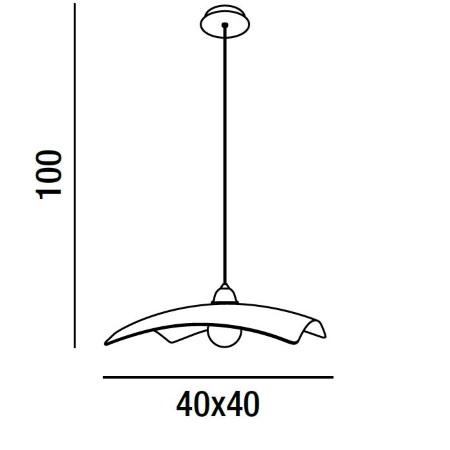 Perenz Lampada a sospensione - Lampada a Sospensione 45x45 Vetro Bianco 1xE27 105w