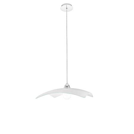 Perenz - Lampada a Sospensione 45x45 Vetro Bianco 1xE27 105w