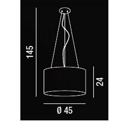 Perenz - Lampada a Sospensione D.45 1x60w E27 Acrilico Trasparente