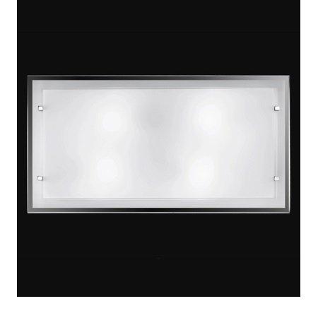 Perenz - Plafoniera Vetro Bianco 70x40