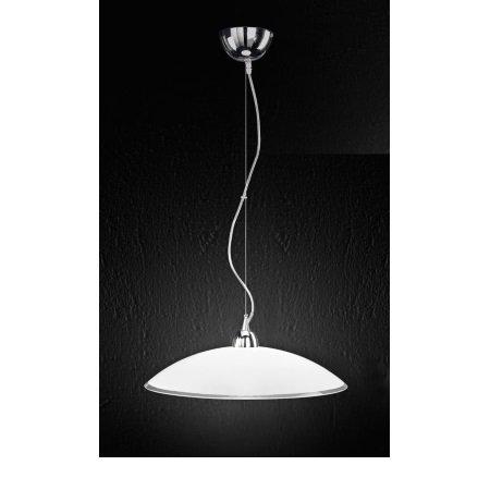Perenz - Lampada a Sospensione In Vetro Bianco e Trasparente D.45