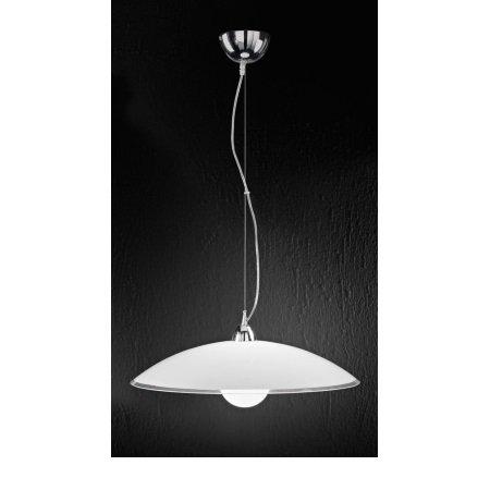 Perenz - Lampada a Sospensione In Vetro Bianco e Trasparente D.55