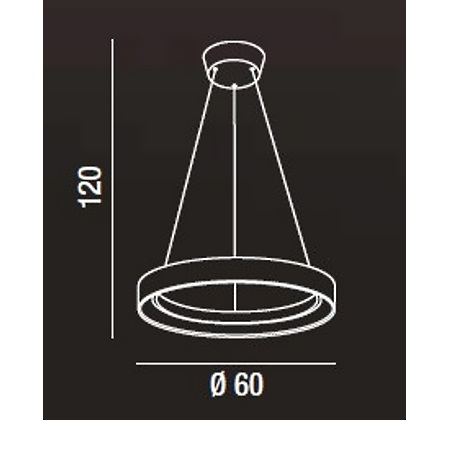 Perenz Lampada a sospensione - Lampada a Sospensione Metallo Bianca D.60
