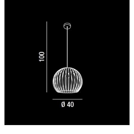 Perenz Lampada a sospensione - Lampada a Sospensione Acrilico Trasparente 1xE27 Max 60w
