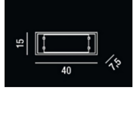 Perenz Lampada da parete - Applique Vetro Bianco 40x15 2x40w