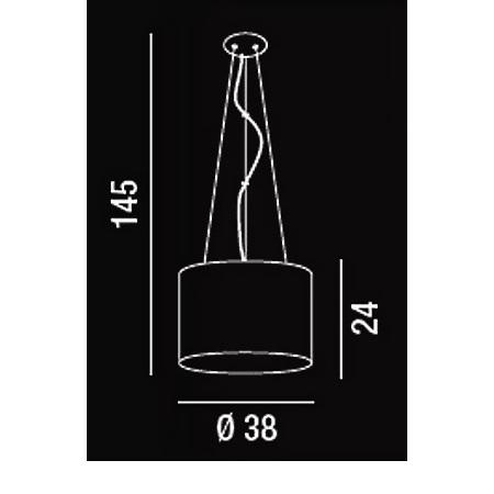Perenz Lampada a sospensione - Lampada a Sospensione D.38 1x60w E27 Acrilico Trasparente