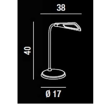 Perenz Lampada da tavolo - Lampada Tavolo Azzurro Led 5w