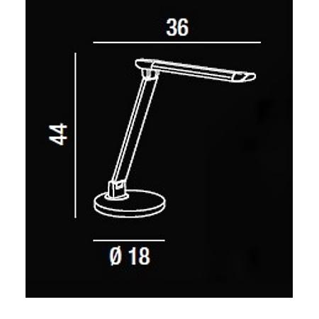 Perenz Di Lampada da tavolo - Lampada Da Tavolo In Alluminio e Plastica