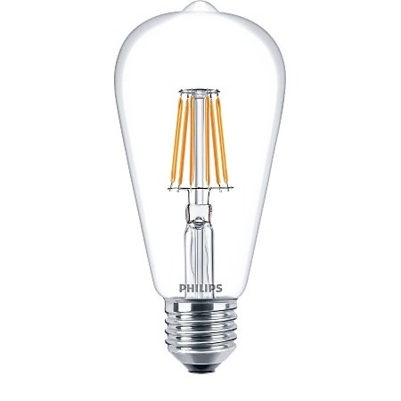 Philips Lighting Lampadina Classic Ledbulb - Led Filament 60w E27 Ww St64 Cl Nd