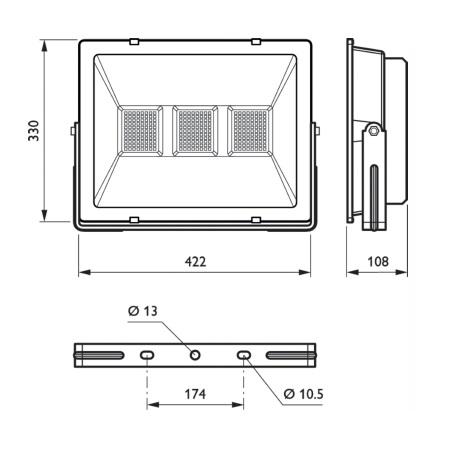 Philips Proiettore LED Proiettore LED da esterno - BVP106 Simmetrico - 38408100