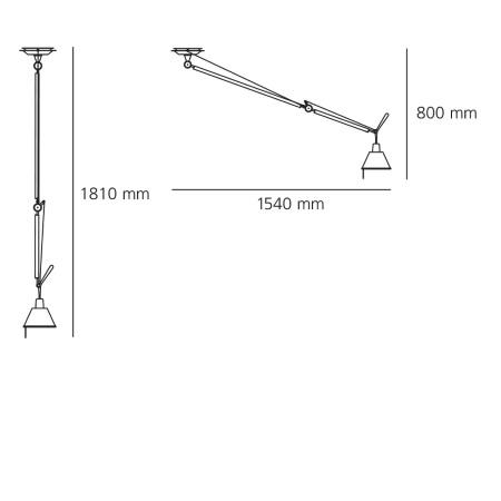 Artemide Lampada a sospensione - Tolomeo Sospensione Decentrata - D36