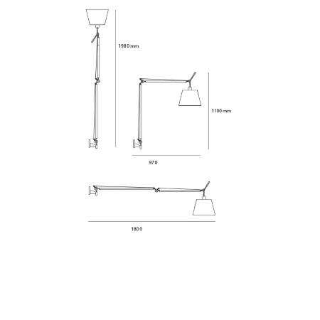 Artemide Lampada da parete - Tolomeo Mega Parete - D36