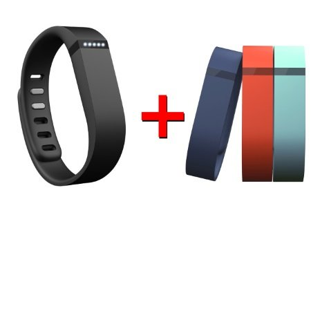Fitbit - Flex Black + Set 3 cinturini Large