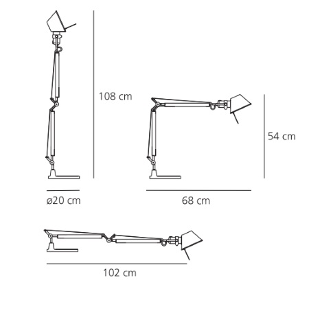 Artemide Lampada da tavolo - Tolomeo Mini