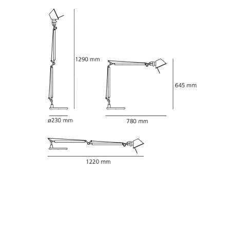 Artemide Lampada da tavolo - Tolomeo Tavolo Base