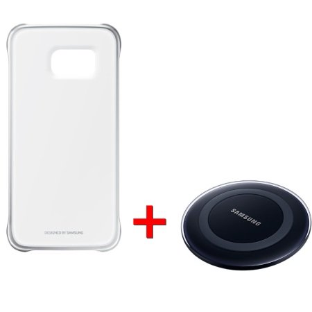Kit Samsung S6: Clear Cover + caricabatterie wireless