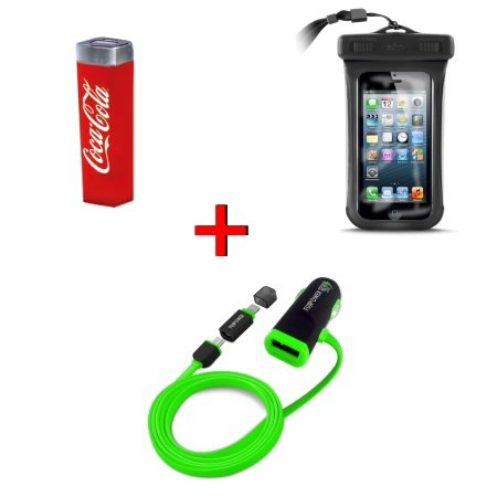 Special Pack per iPhone 6s KIT APPLE 6S: Power bank + Busta waterproof + Carica batteria da auto