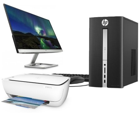 "HP PC Desktop +Monitor 24"" +Stampante Wi-Fi"