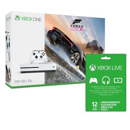 Microsoft - Xbox One S 500gb White + Forza Horizon 3 + Xbox Live 12 Mesi