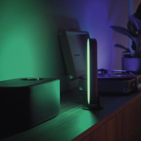 Philips Hue Hue White and Color Ambiance Lampada a Barra Play confezione doppia - Play 2 nero + Bridge