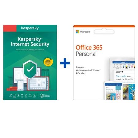 Kit Office e Antivirus Kaspersky Microsoft 365 Personal