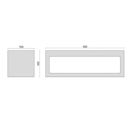Performance In Lighting Lampada da parete - Quasar 30 Led-32,5w 4k Bi Antracite
