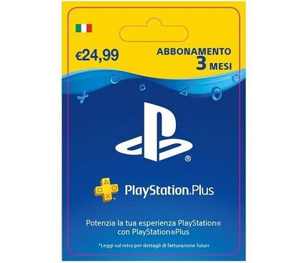 Playstation Plus 3 Mesi Abbonamento PlayStation Plus 3 mesi Subscription