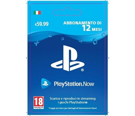 Playstation Now: 12 Mesi Abbonamento PlayStation Now: 12 Mesi Subscription