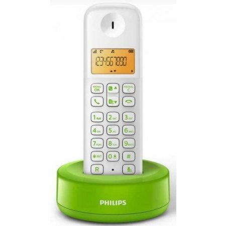 "Philips 4.064 cm (1.6 "") , 300 mAh, 10 hrs, 50 - 300m,AAA NiMH, 0.7W, 100 - 240 V AC, 50/60Hz, 259g, bianco/verde - D1301wn"