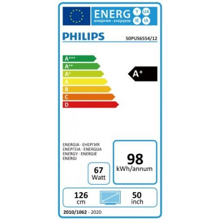 "Philips Tv led 50"" ultra hd 4k hdr - 50pus6554"
