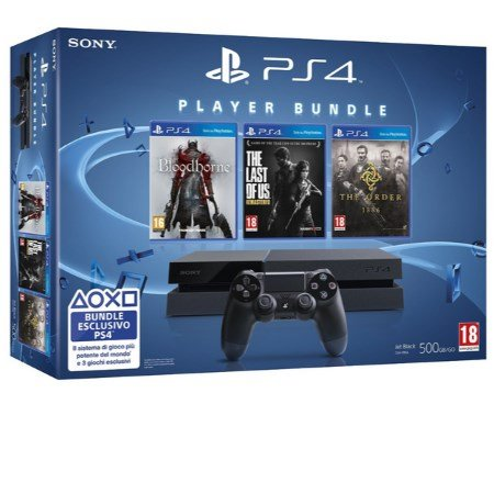 Sony Console Playstation 4 - Ps4 500gb +The Order: 1886 + The Last of Us + Bloodborne