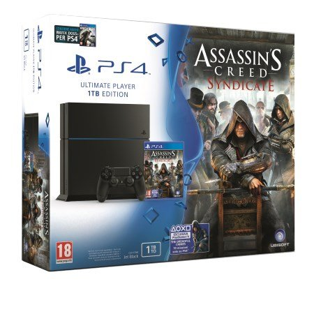 Sony PS4 Ultimate Player C Chassis - PS4 1TB +ASSASSIN'S CREED SYNDICATE + WATCHDOGS