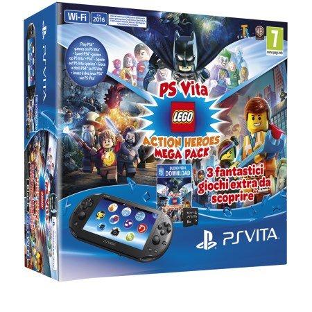 Sony Console PS VITA Wi-Fi 2016 - Ps Vita 2 Wi-Fi +Mega Pack Lego Heroes +MC 8 GB