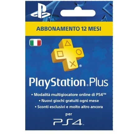 Sony Abbonamento Playstation Plus di 12 mesi - Ps4 Psn Card + 365gg