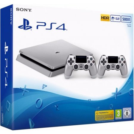 Sony PS4 500 GB   Silver - Playstation 4 500Gb Argento 2 Dualshock - 9848660