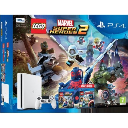 Sony Console PS4 - PS4 +LEGO Marvel Avengers +Super Heroes 2