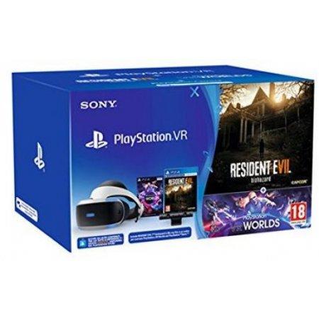 Sony Acc. visore + camera + gioco - Psvr+cam+vr Worlds(vch)+ Resident Evil Vii 9737414