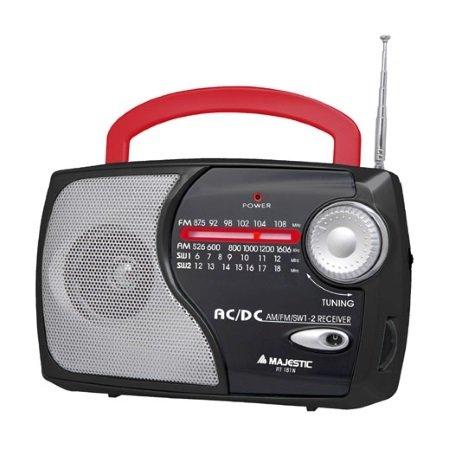 Majestic Radio portatile AM/FM/SW1/SW2 - Rt-181n Bkrd