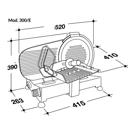 RGV Affettatrice professionale con diametro della lama 300 mm - LADY 300 E